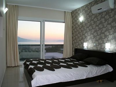 Master bedroom with sea and mountain view