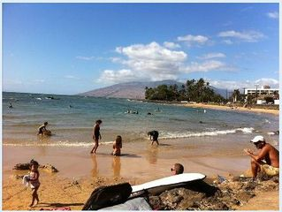Kihei condo photo - Come and enjoy the beach right across the street.