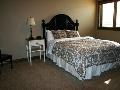 Queen Bedroom down...Bedroom #3 in Midway Utah Vacation Rental
