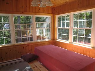 Alexander house photo - Heated sunporch. Table seats 8, cool breeze from the lake in summer.