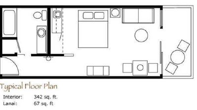 Condo's Floorplan: Updated with 2 Double Beds Now