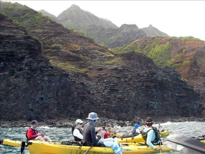 Kayaking the Na Pali coast, a very special one day - 17 mile trip.