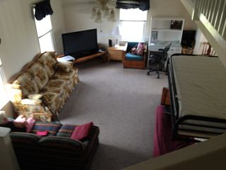 Plenty of open living area to spread out; room for air mattresses if needed - North Topsail Beach cottage vacation rental photo