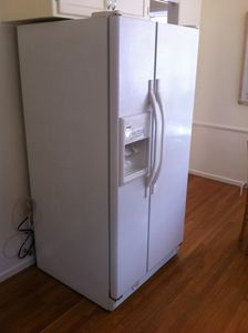 Plenty of storage space in this large 2 door side by side refrigerator.