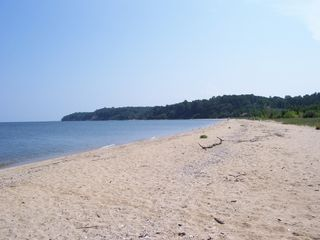 Solomons Island house photo - Beach towards the cliffs (right)