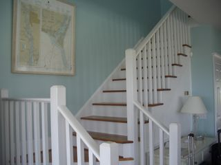 Bald Head Island house photo - Living room staircase