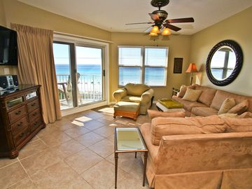 Maravilla Resort condo rental - Living Room With Sliders To Balcony
