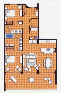 Our Floor Plan 1625sq Ft plus 400 sq ft Lanai