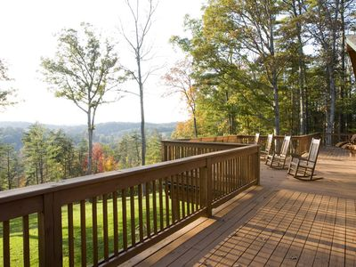 Back Deck with View of Mountains