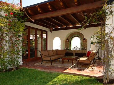 Pergola is the perfect spot to relax outdoors.