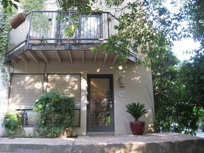 You'll enjoy the Austin vibe as soon as you arrive at the 6th Street condo.