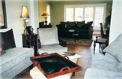 Old Naples house rental - Separate seating area with large-screen HD-TV and DVD