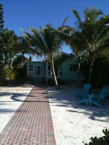 Fort Myers Beach cottage rental - View from Beach towards Little Palm