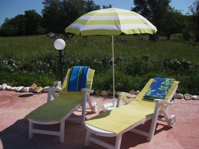 Relax on the sun loungers