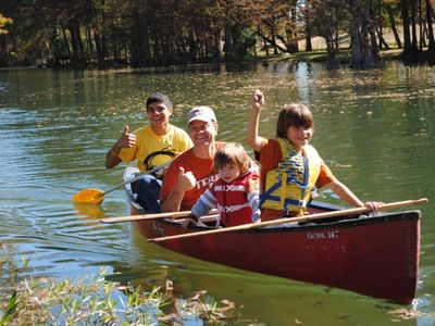 Canoes are available for your use year-round
