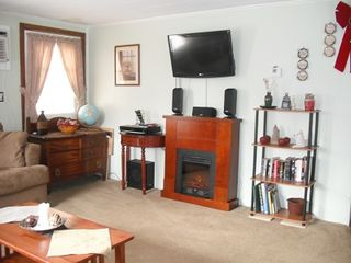 North Conway house photo - Big TV,DVD,Surround sound stereo and f aux fireplace