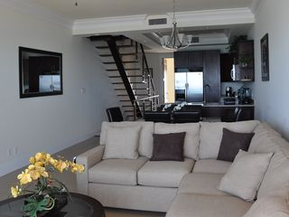 Nassau & Paradise Island townhome photo - Living room, dining room, etc. from balcony.