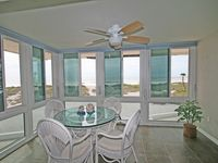 On the beach with 180 degree gulf view from your living room