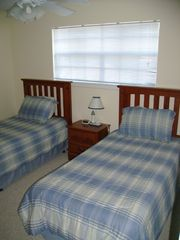 Dauphin Island condo photo - Second bedroom with twin beds.