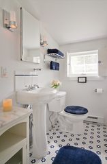 Woodstock studio photo - Newly renovated bathroom with a separate shower with a skylight