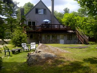 Woodstock house photo - Large Property with Campfire Pit, Large Deck that overlooks the lake.