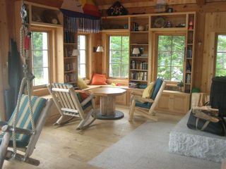 Deer Isle - Stonington lodge photo - The main house library