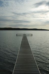 Honor cottage rental - Our dock and your gateway to fun on the lake!