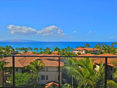 Wailea villa rental - Amazing panoramic ocean views from the lanai. Watch whales swim by!