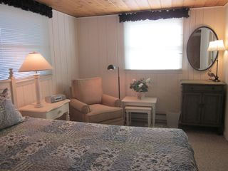 South Bethany Beach house photo - Another view of king bedroom with reading corner.