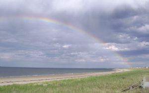 Rainbow over the dunes