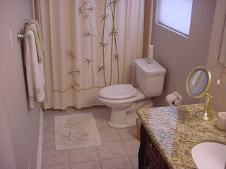 Duluth house photo - Bathroom Tub and Shower w/Granite Counter Sink
