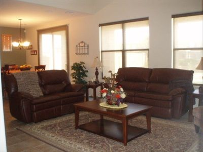 Family Room with leather recliners