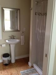 New bathroom with stand up shower - Provincetown condo vacation rental photo