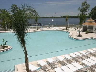 Pool overlooks Lake Bryan