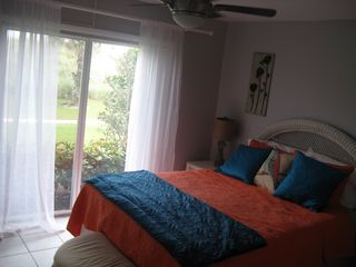 Hutchinson Island condo photo - Queen Suite, memory foam topped, new linens with private full bath and dune view