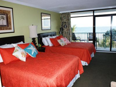 Enjoy the sounds and view of the ocean right from your bed!