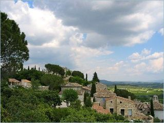 Gordes house photo - View of the village looking eastward.
