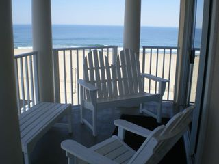 Belmont Towers Ocean City condo photo - Building from Beach!