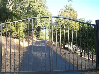 Private Gated Entrance to Hillhaven (2.5 acre property)