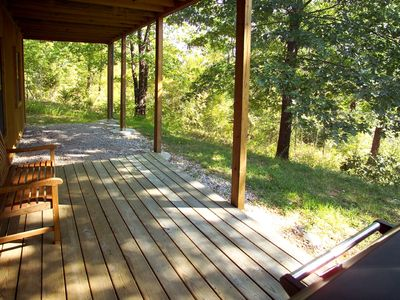 Branson cabin rental - Beautiful View and a Huge Charcoal Grill on the lower level walk out deck.