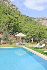 Turunc villa rental - The villa is set in a well cared garden