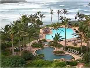 Resort's pools & restaurant at Turtle Bay