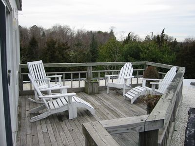One of the several outside decks.