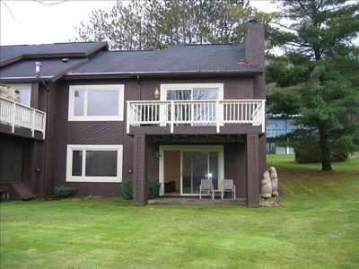 Harbor Springs townhome rental - Back Deck and Paito on lower level