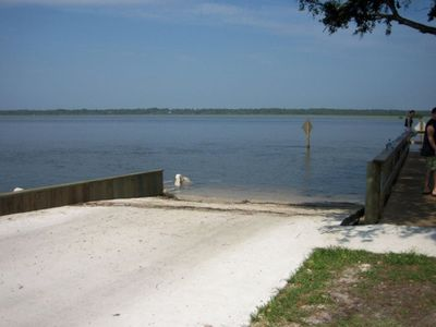 Green Road public boat ramp - one block from Point Matanzas