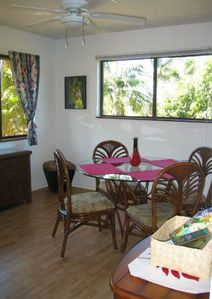 Full dining room for family gatherings around a good Hawaiian meal