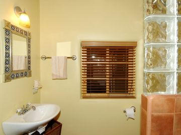 Bath with Talavera Tile Shower