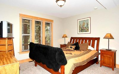 Tahoe Keys cabin rental - Down stairs bedroom with bathroom, TV/DVD