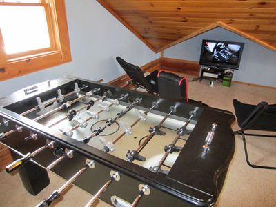 Carolina Cabin Rentals Cloud 9 Foosball and XBox