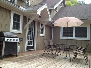 Charlemont apartment photo - Private deck area with barbecue.